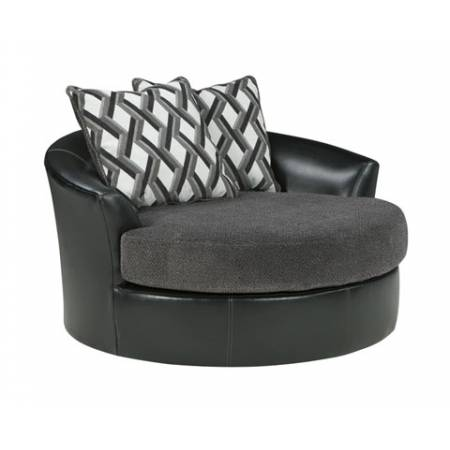 32202 Kumasi Oversized Swivel Accent Chair
