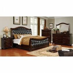 FORT WORTH 4PC SETS E.King BED Dark Cherry