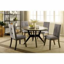 ABELONE 5PC SETS (ROUND TABLE + 4 SIDE CHAIRS )Gray