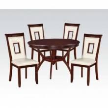 WHITE 5PC PK DINING SET 71604