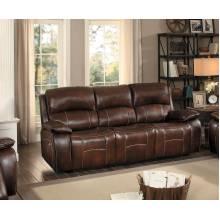 Mahala Power Double Reclining Sofa - Brown Top Grain Leather Match