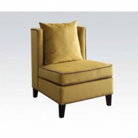 59570 YELLOW ACCENT CHAIR
