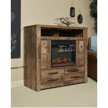 B224 Blaneville Media Chest w/Fireplace Option
