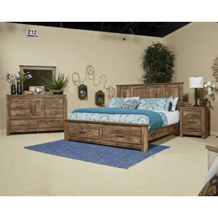 B224 Blaneville 4PC SETS Queen Sleigh BED