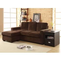 PHELPS Reversible Sofa Chaise Chocolate