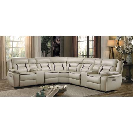 AMITE Power Sectional Sofa Group 6 Pc SetBeige