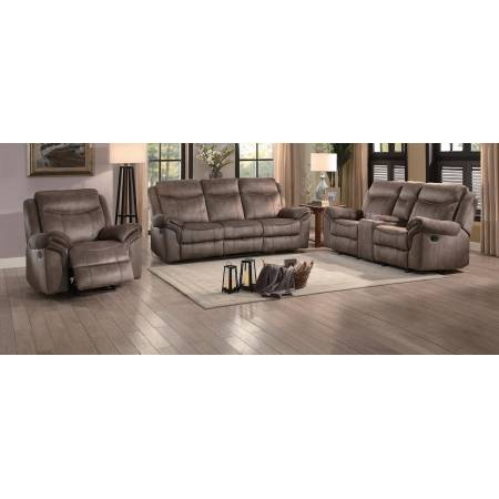 ARAM Sofa Group 3 Pc set Dark Brown
