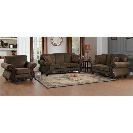 MANDEVILLE Sofa Group 3 Pc set Brown
