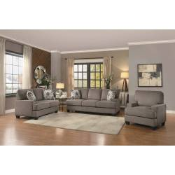 KENNER Sofa Group 3 Pc set Grey