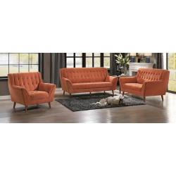 ERATH Sofa Group 3 Pc set Orange
