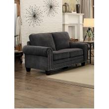 CORNELIA Love Seat Dark Grey