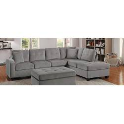 Emilio Reversible Sectional Sofa with Ottoman
