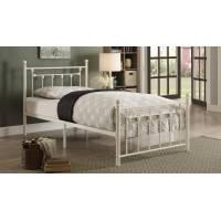 LIA Twin Metal Platform Bed White