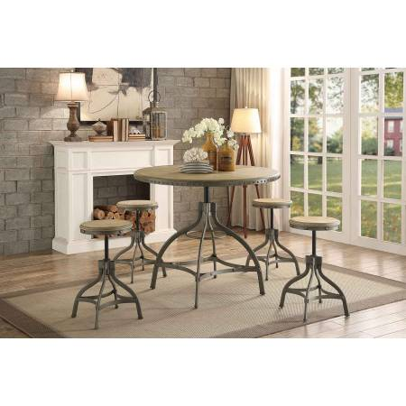 BEACHER Group 7 Pc Dining set Height