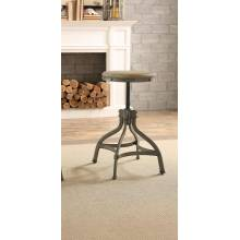 BEACHER Round Stool, Adjustable Height