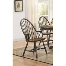 CLINE Windsor Chair with Arms Traditional