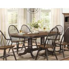 CLINE Double Pedestal Dining Table Traditional