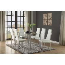 FLORIAN Group 7 Pc Dining set White