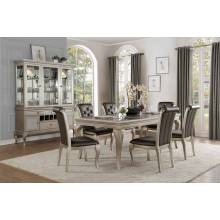 CRAWFORD Group 7 Pc Dining set Silver
