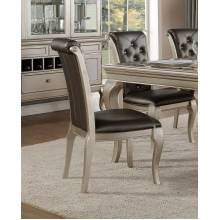 CRAWFORD Side Chair Silver