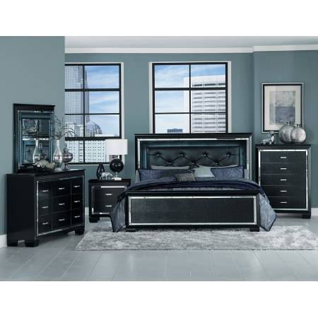 ALLURA Group 4 Pc Bedroom set Black