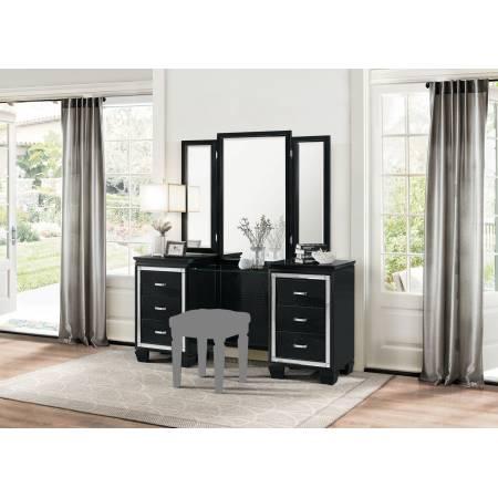 ALLURA Vanity Dresser with Mirror Black