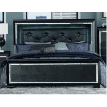 ALLURA California King Bed, LED Lighting Black