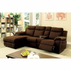 KAMRYN SECTIONAL W/ CONSOLE Brown