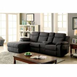 KAMRYN SECTIONAL W/ CONSOLE Gray