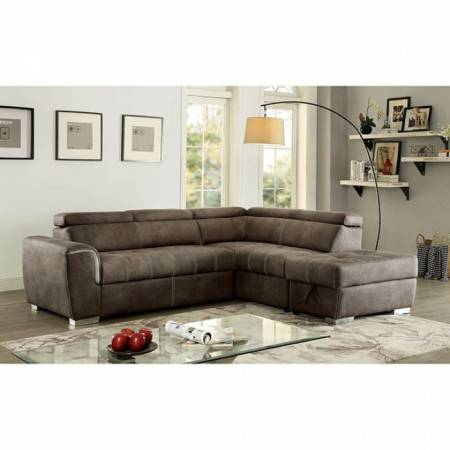 LORNA SECTIONAL Ash Brown