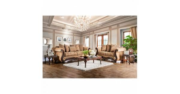 Swell Nicanor 2Pc Sets Sofa Love Seat Tan Gold Squirreltailoven Fun Painted Chair Ideas Images Squirreltailovenorg