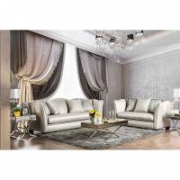 ALESSANDRA 2PC SETS SOFA +LOVE SEAT Silver