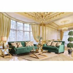 VERDANTE 2PC SETS SOFA + LOVESEAT Emerald Green