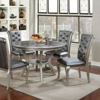 AMINA ROUND DINING TABLE Champagne Finish