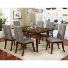 ABELONE DINING TABLE 7PC SETS Walnut Finish