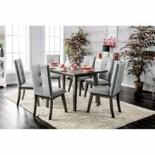 ABELONE RECTANGULAR TABLE 7PC SETS Gray Finish