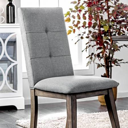 ABELONE SIDE CHAIR (2/BOX) Gray Finish
