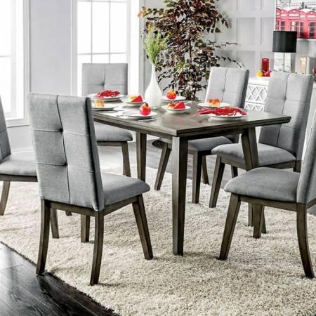 ABELONE RECTANGULAR TABLE Gray Finish