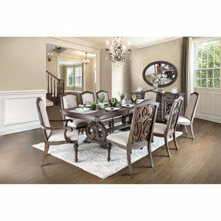 ARCADIA 9PC SETS (DINING TABLE + 2 AM+ 6 SC) Rustic Natural Tone