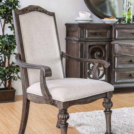ARCADIA ARM CHAIR (2/BOX) Rustic Natural Tone