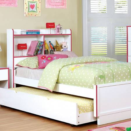 BOBBI Twin BED Pink & White