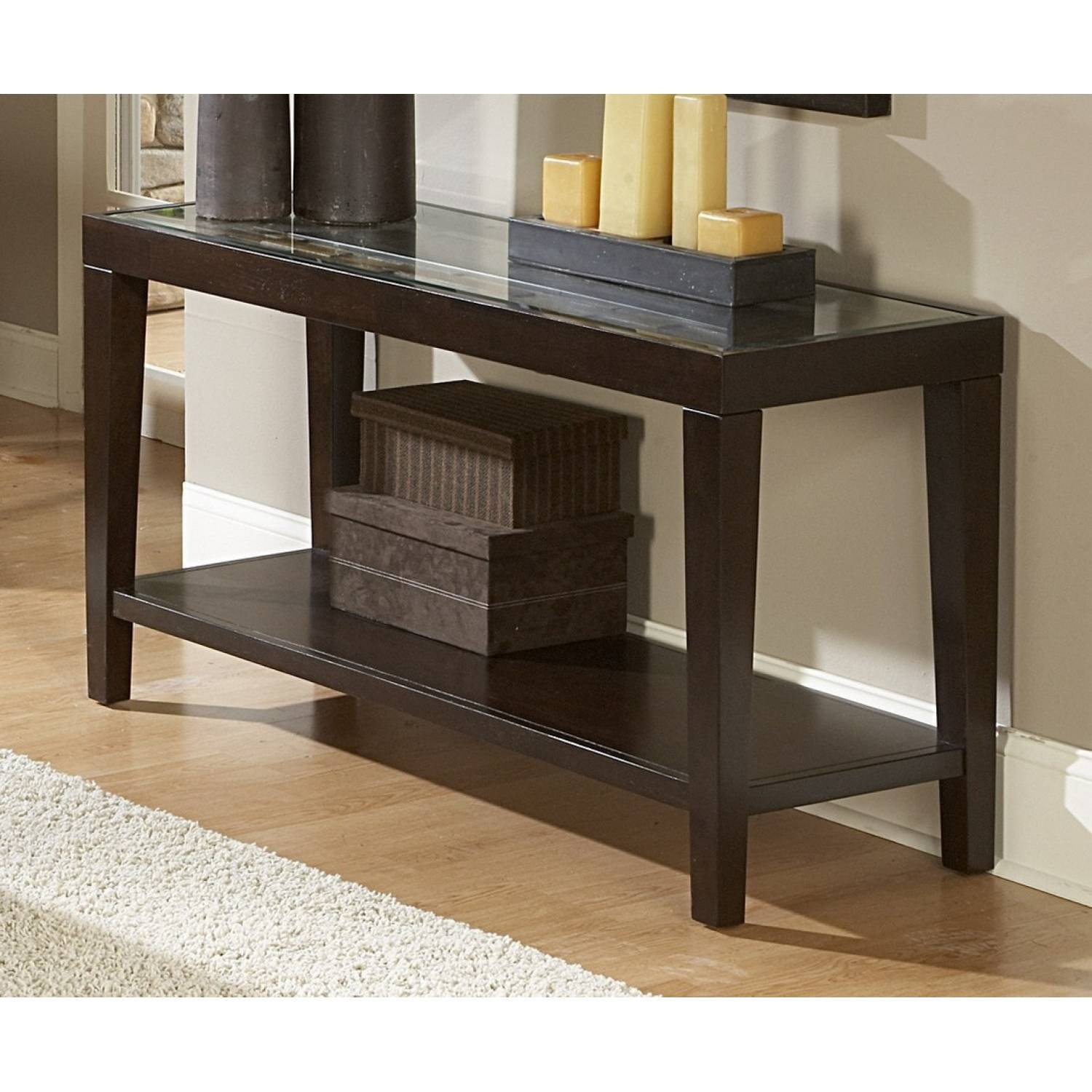 sofa table with glass top - vincent sofa table with glass top