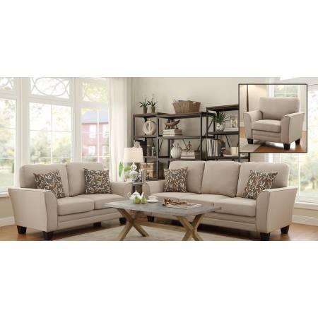 Adair 2PC SE Sofa + Love Seat- Beige