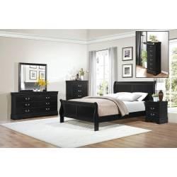 Mayville Bedroom 5Pc Set - Black (QB+2NS+DR+MR)