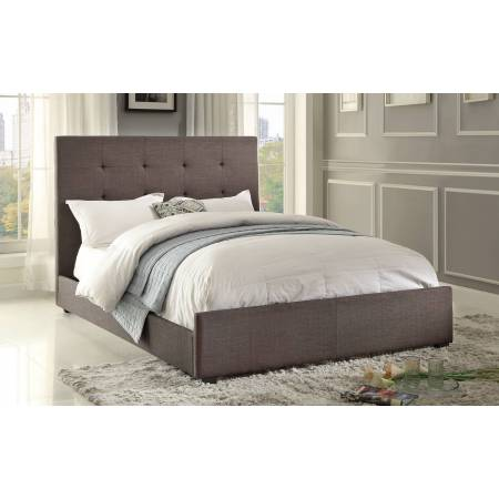 Cadmus Upholstered Queen Bed - Dark Grey