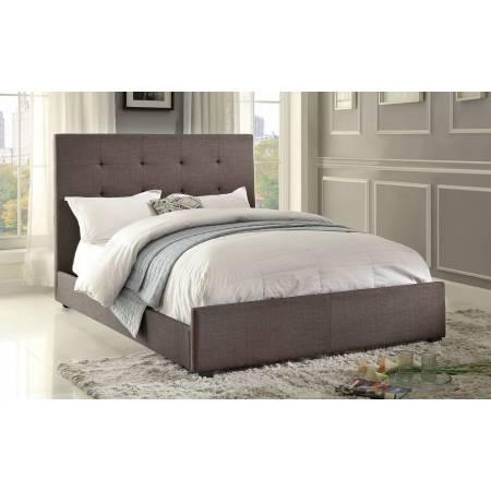 Cadmus Upholstered Queen Bed - Dark Grey
