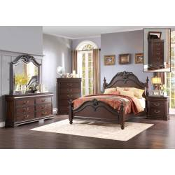 Mont Belvieu Bedroom 5 Pc Set - Cherry (QB+2NS+DR+MR)