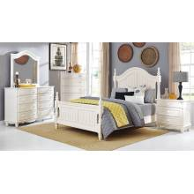 Clementine Bedroom 5pc set - White (QB+NS+DR+MR+CH)