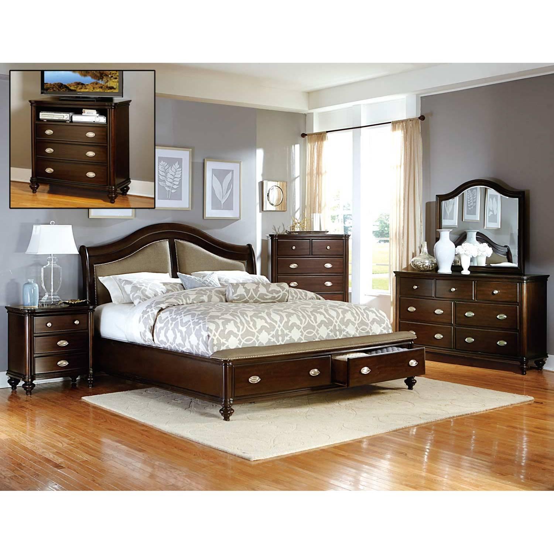 Homelegance Marston Bedroom Set 5pc Dark Cherry 2615dc 1 5