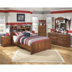 B228 Barchan Full Bookcase Bedroom Sets 4 Piece